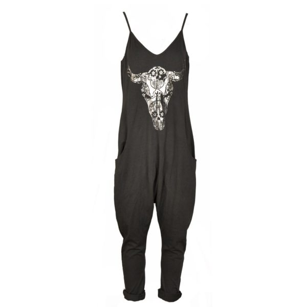 Bull head harem jumpsuit