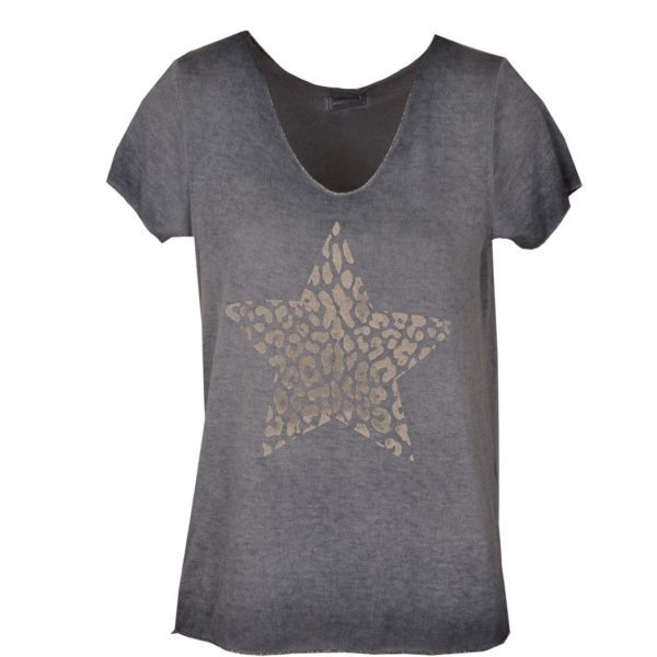 Fine knit animal star top