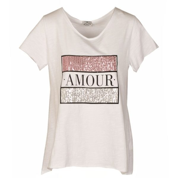 Amour sequin t-shirt