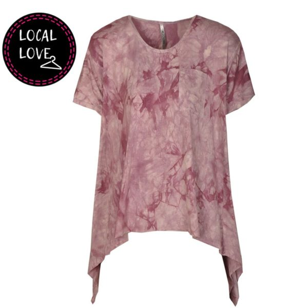 Cocoon Tie dye pocket top