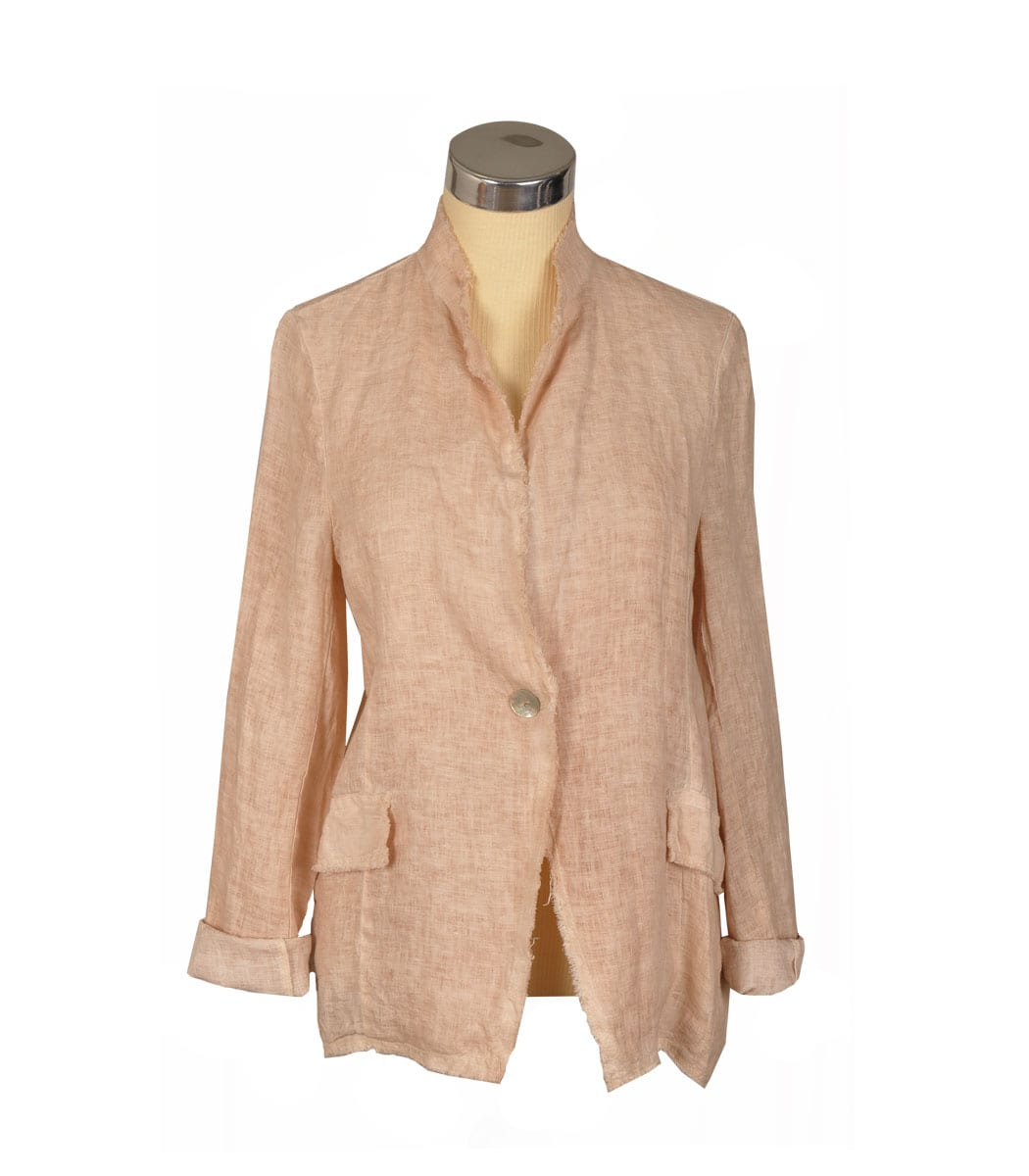 Sequin star linen jacket