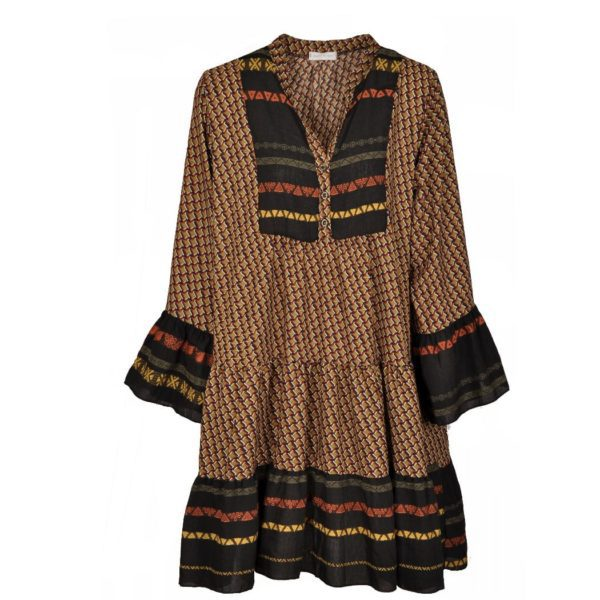 Aztec border print dress