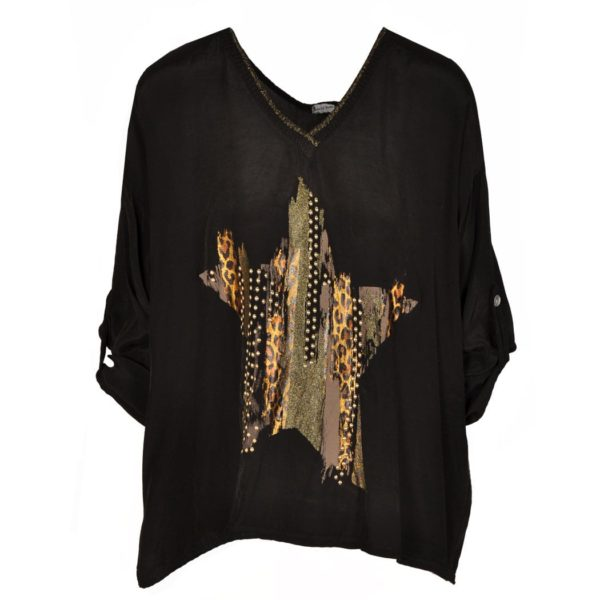 Star studded boxy blouse