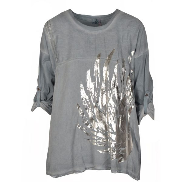 Foil palm leaf top