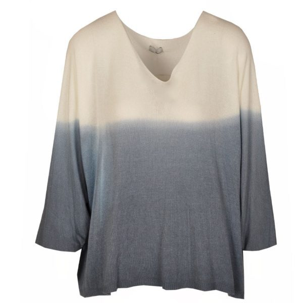 Dip-dye sequin wing knit top