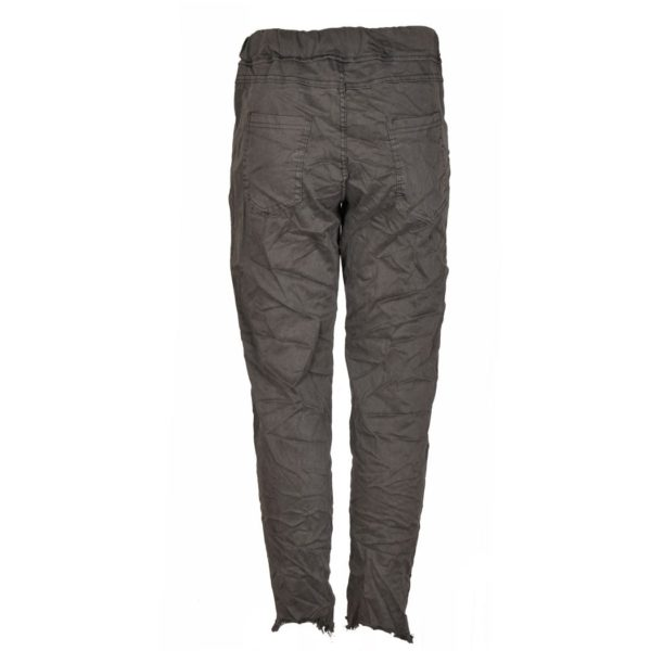 Raw hem side zip pants