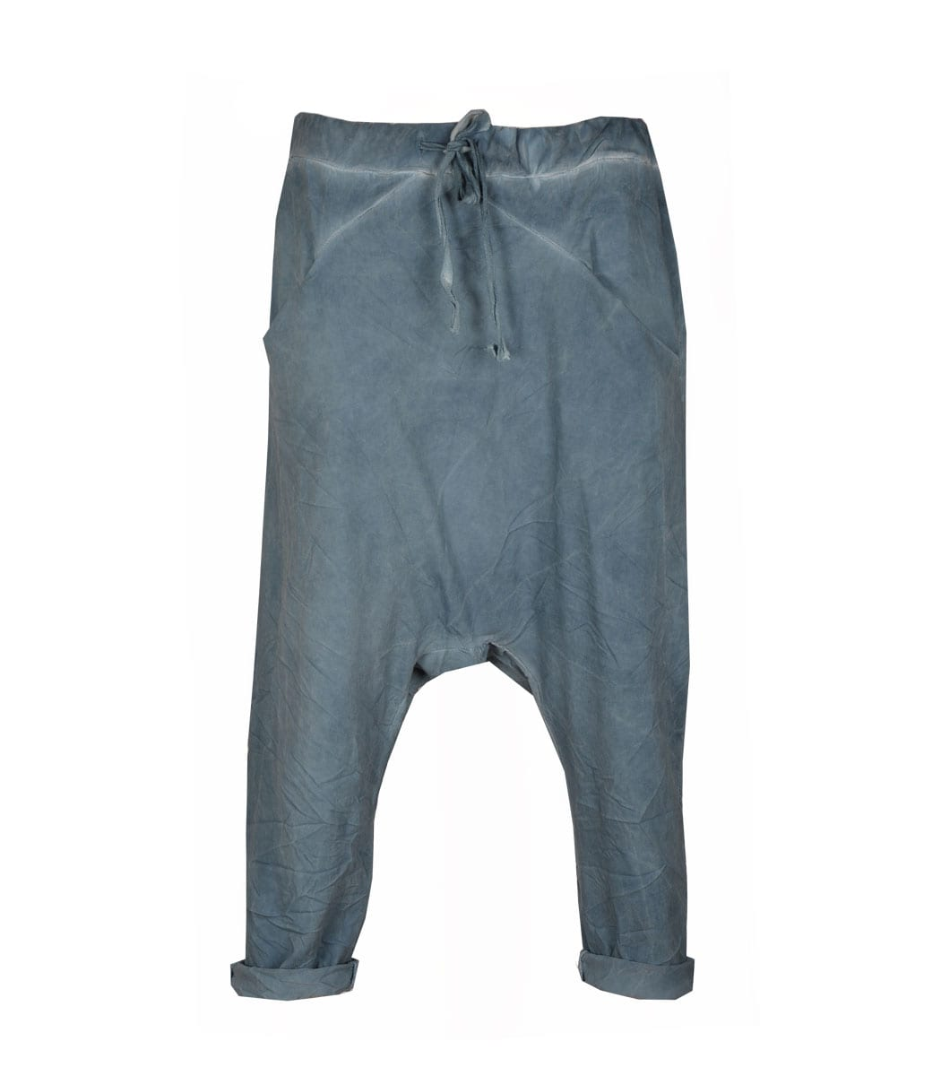 Cropped washed harem pants