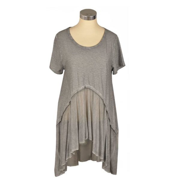 Hi-lo 2 textured tunic