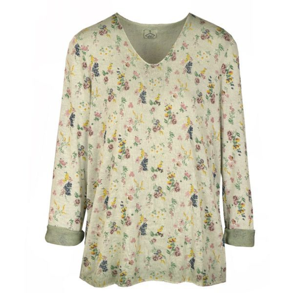 Baby floral print knit top