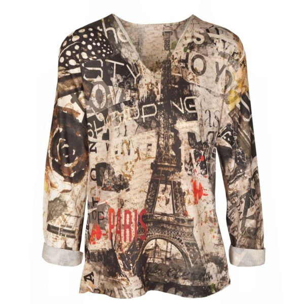 Eiffel Tower print long top