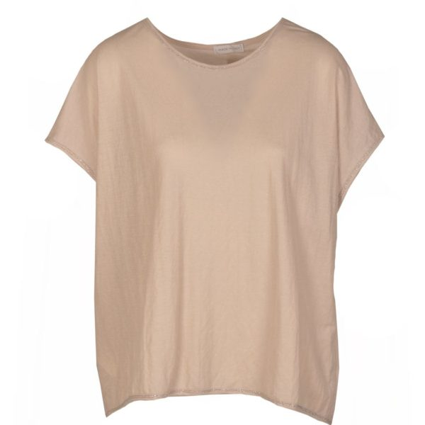 Lurex trim boxy top