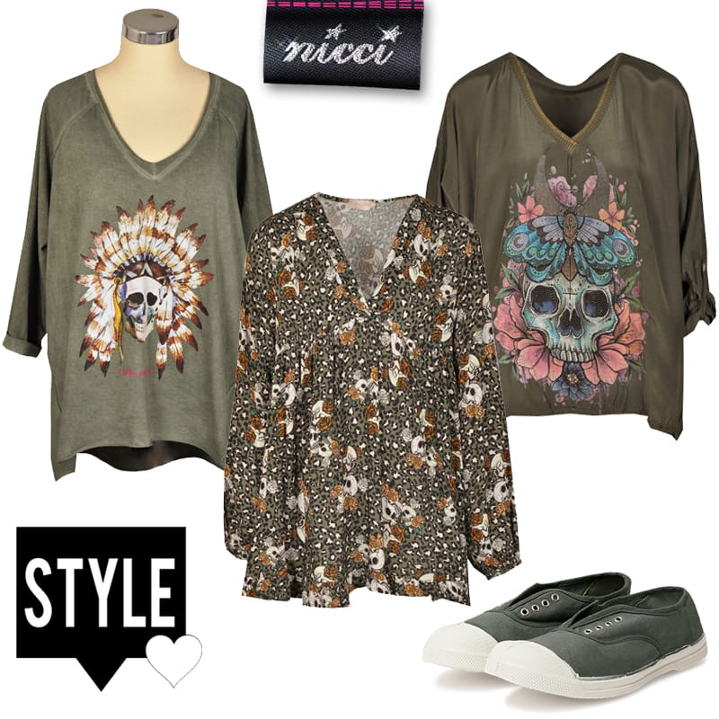 Indian chief skull long top