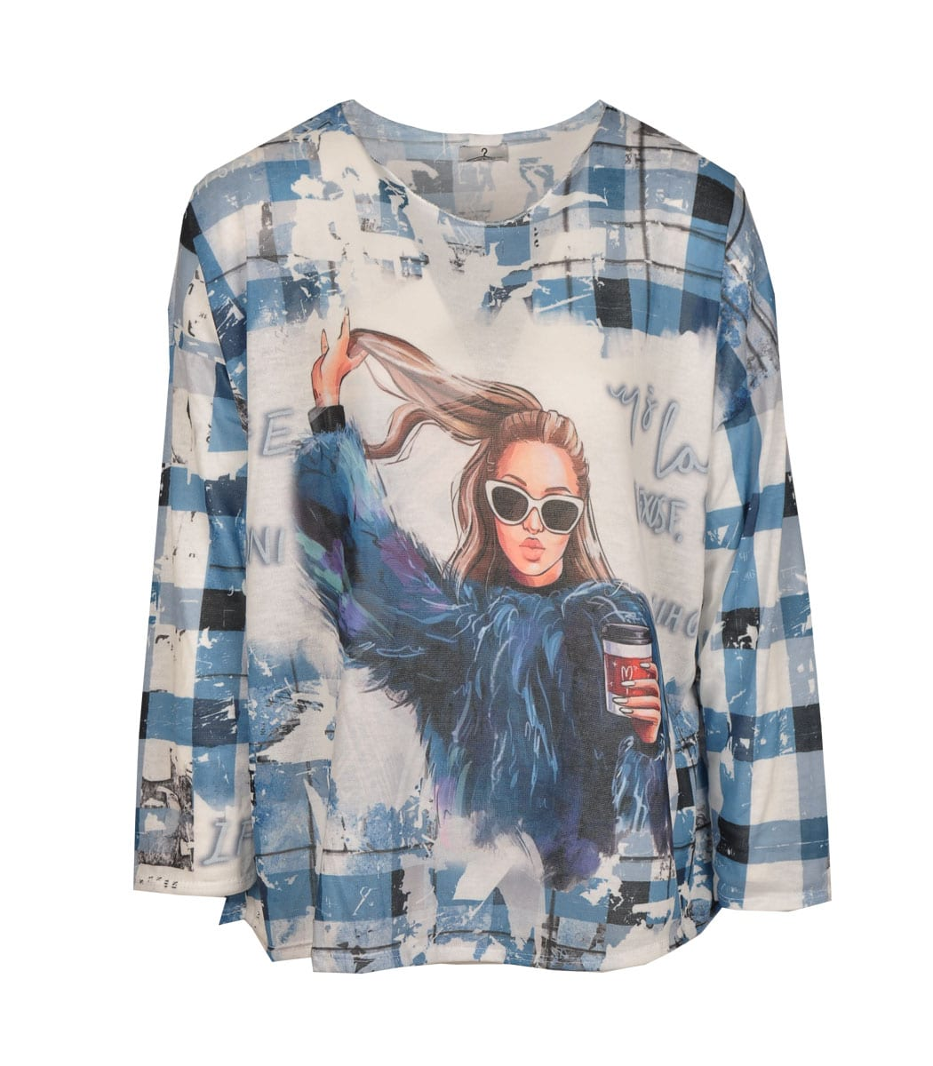 Sunglass lady long sleeve top