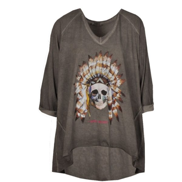 Indian chief skull top