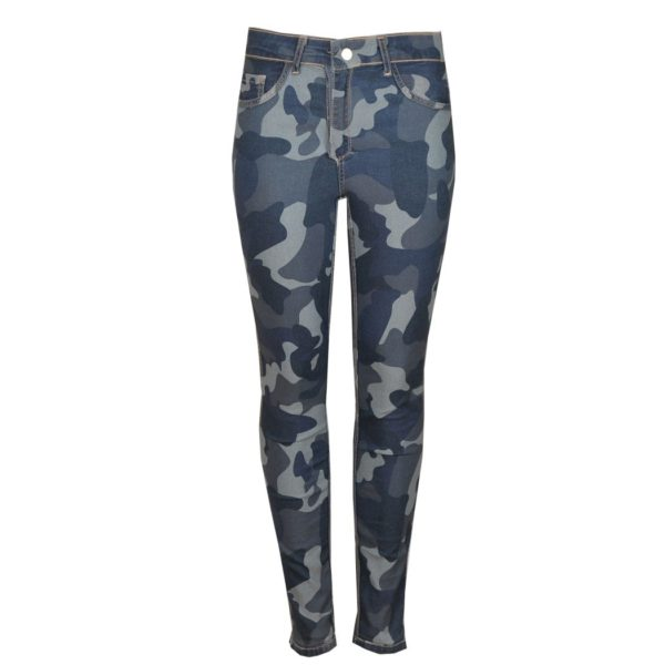 Camou reversible skinny jeans
