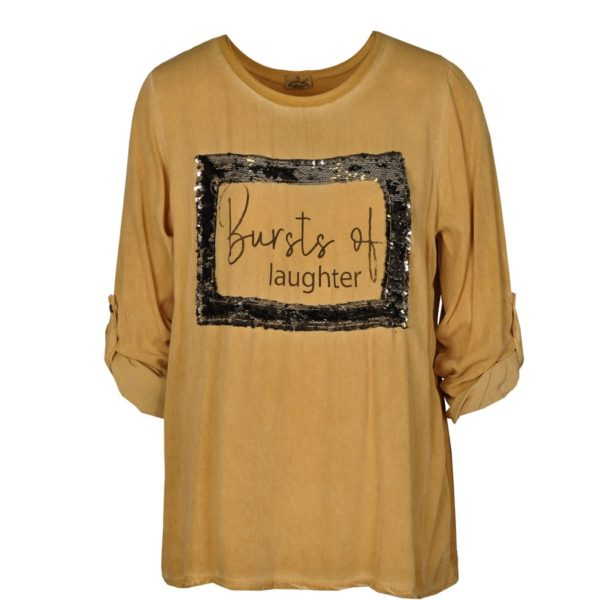 Burst of laughter print top