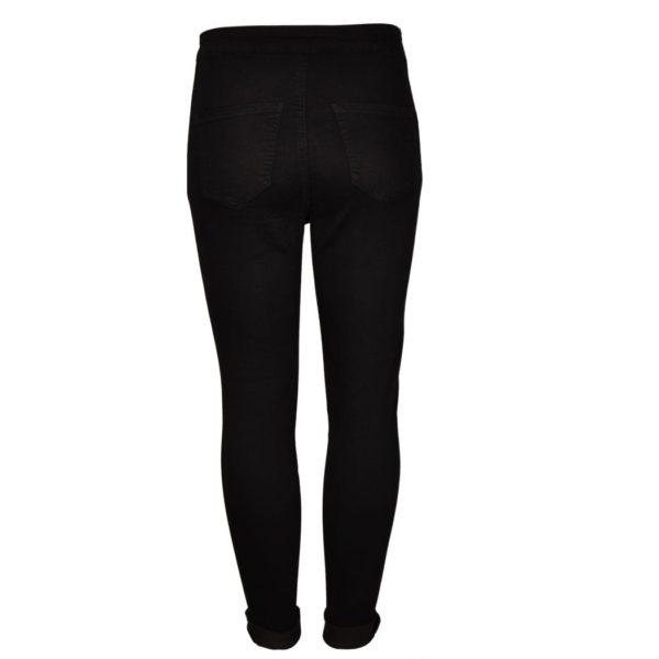Raw-edge zip pocket pants