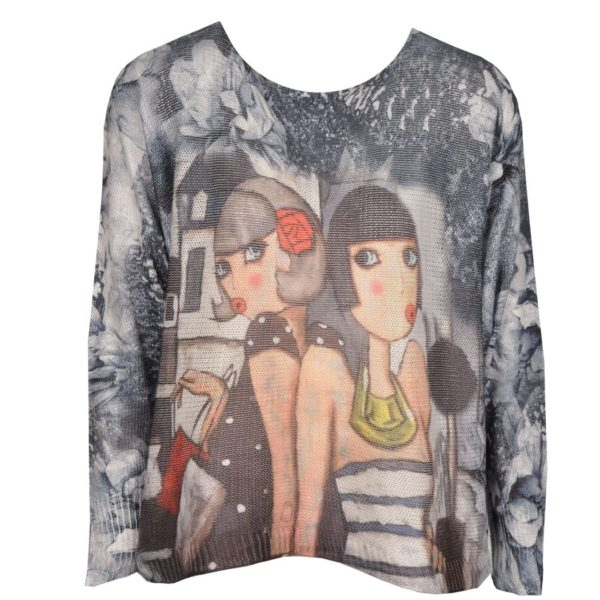 Modigliani print top