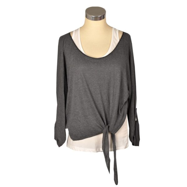Double layer tie top