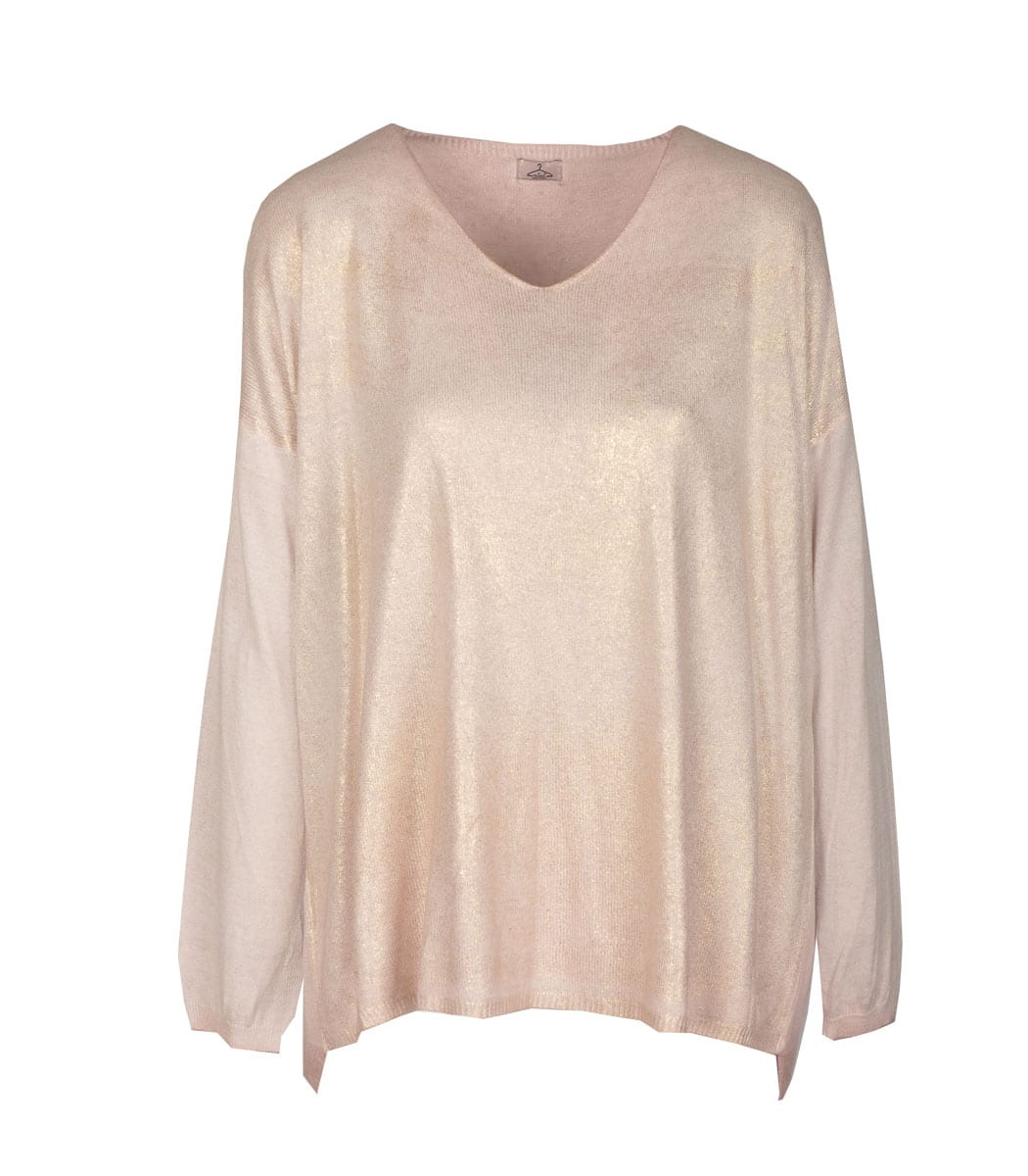 Gold lurex coated top