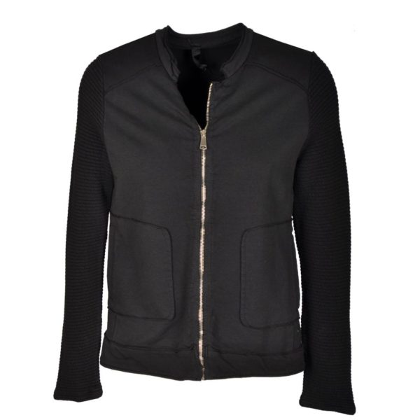 Zip moto fleece jacket