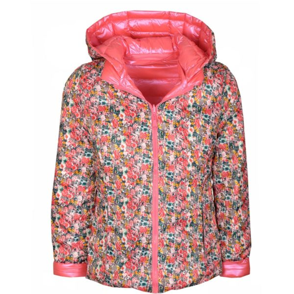 Floral reversible puff jacket