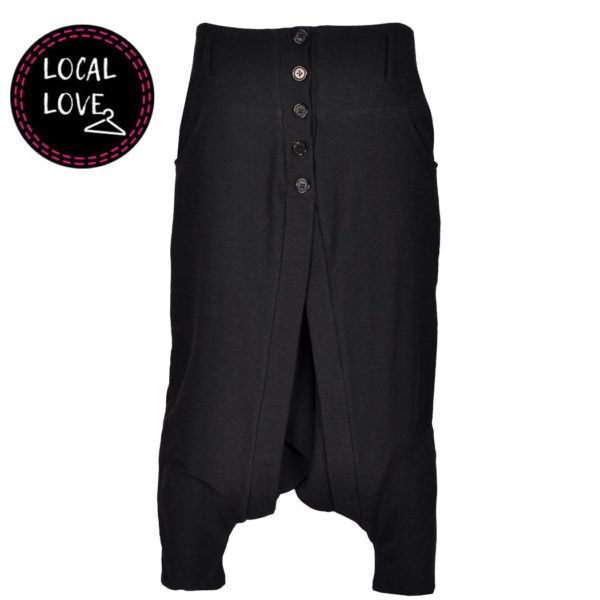 Cocoon button harem pants
