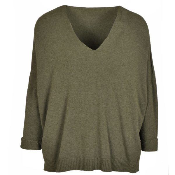 Hi-lo boxy knit top
