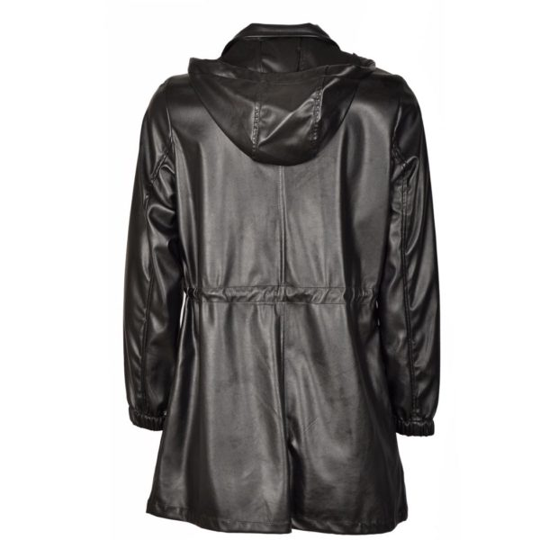 Leatherette parka jacket