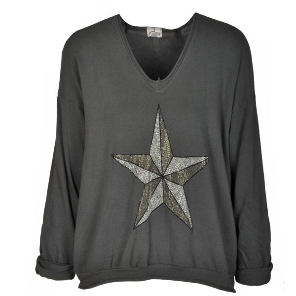 Diamante star sweatshirt