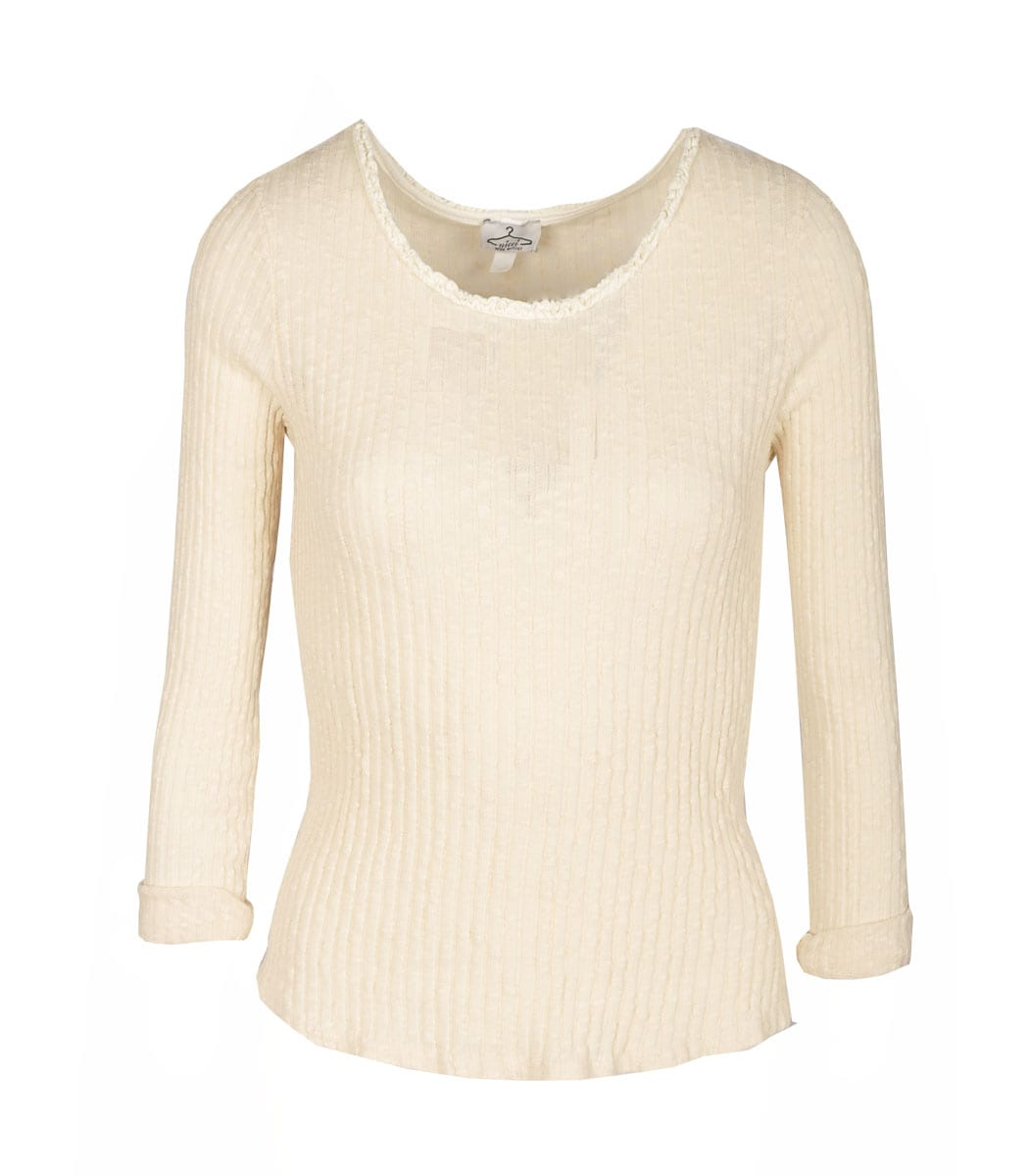 Basic long sleeve ribbed top