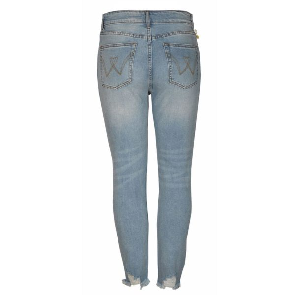 Safety pin shell jeans