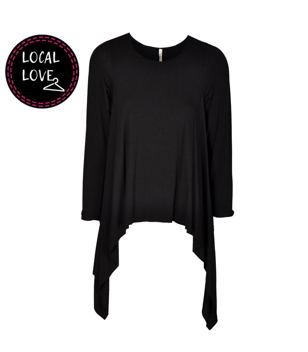 Cocoon double layer long sleeve top