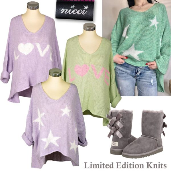 Giant star boxy knit top