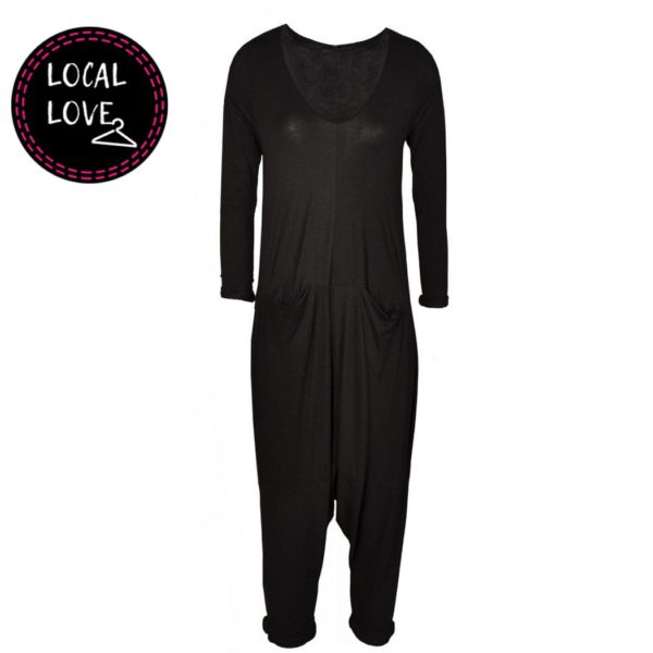 Cocoon long sleeve jumpsuit
