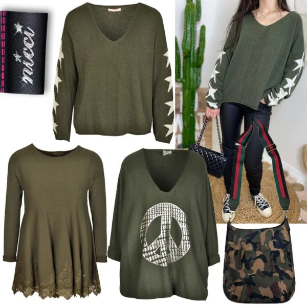 Star sleeve knit top