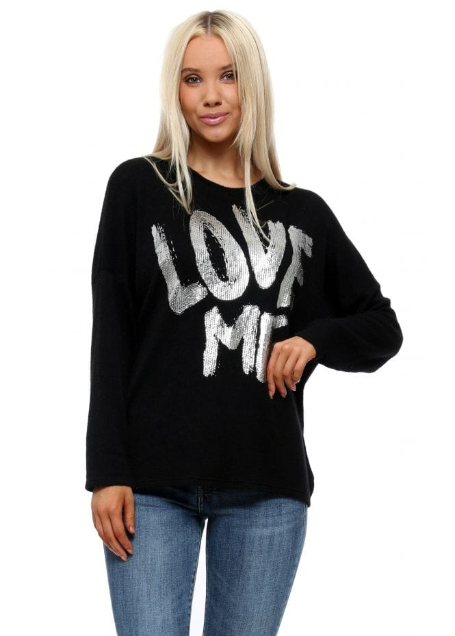 Love me ribbon tie knit top