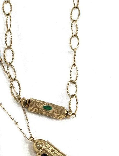 Link Moroccan inspired bar necklace