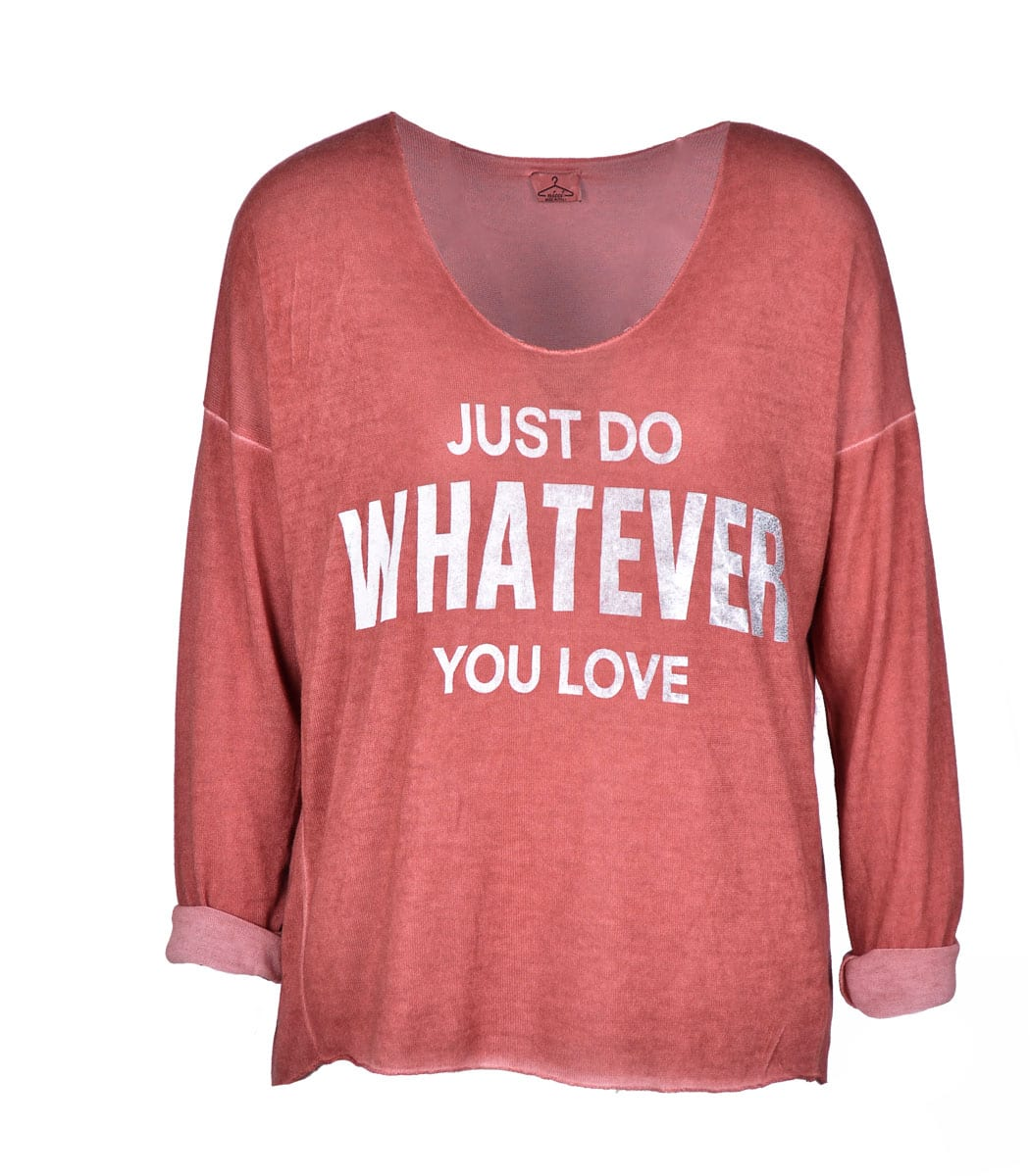Long sleeve overdyed whatever print top