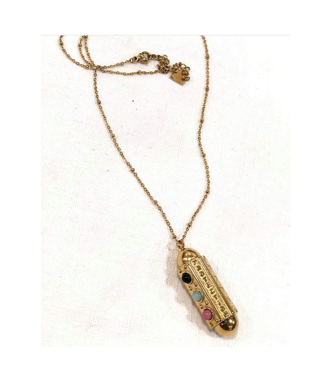 Long fine chain Moroccan inspired necklace