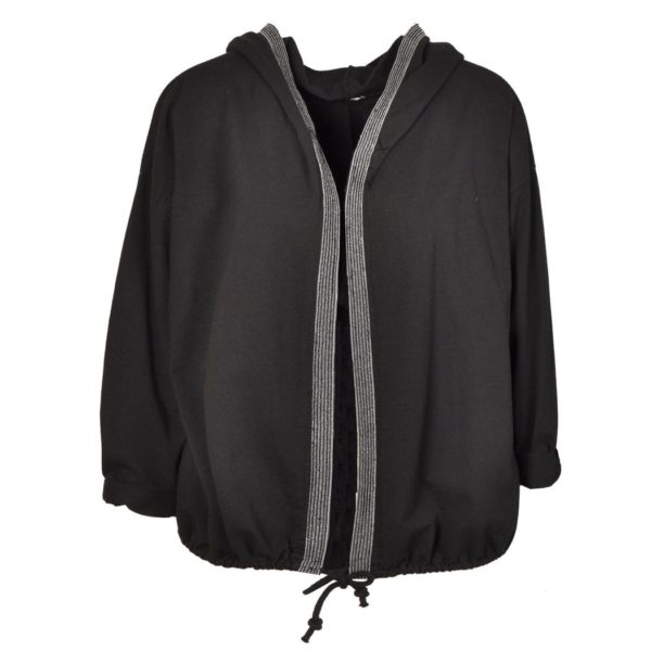 Wing applique hooded jacket