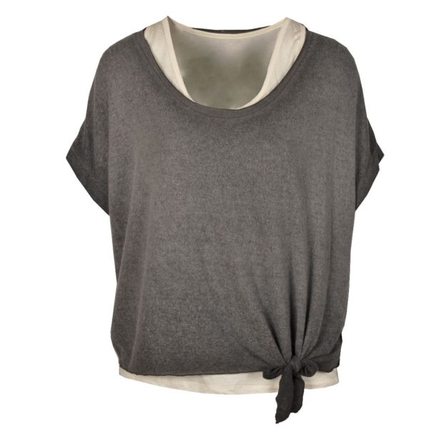 Double layer tie t-shirt