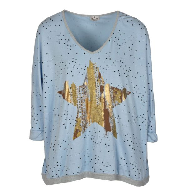 Gold star studded top