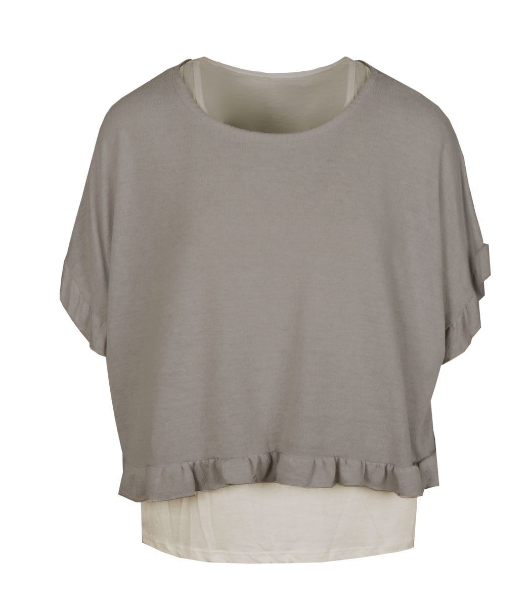 Double layer frill top