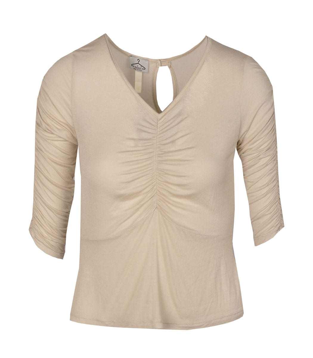 Ruched fitted top
