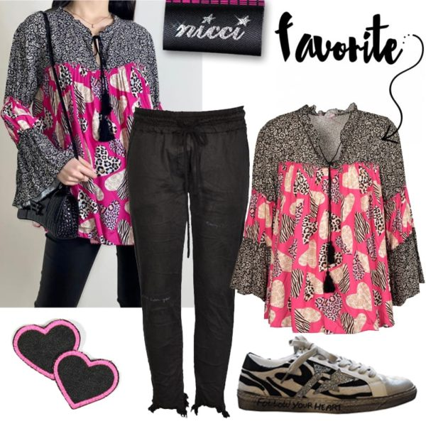 Heart floral tunic