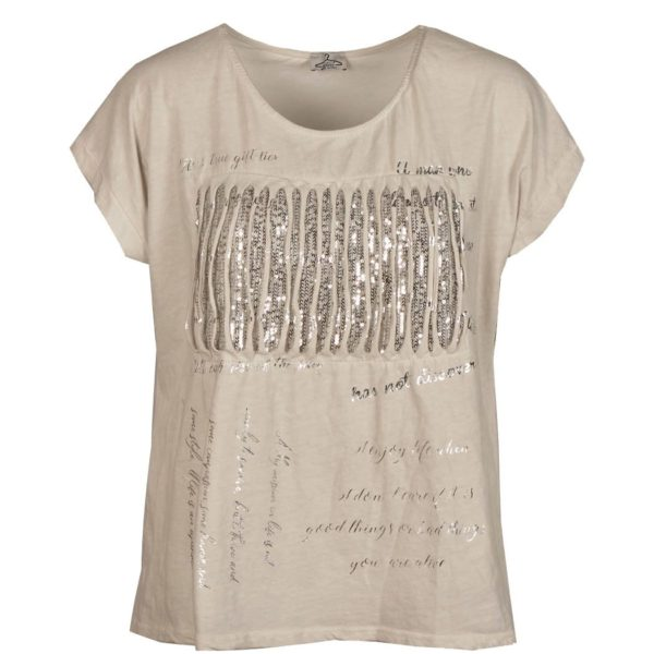 Ribbed sequin t-shirt