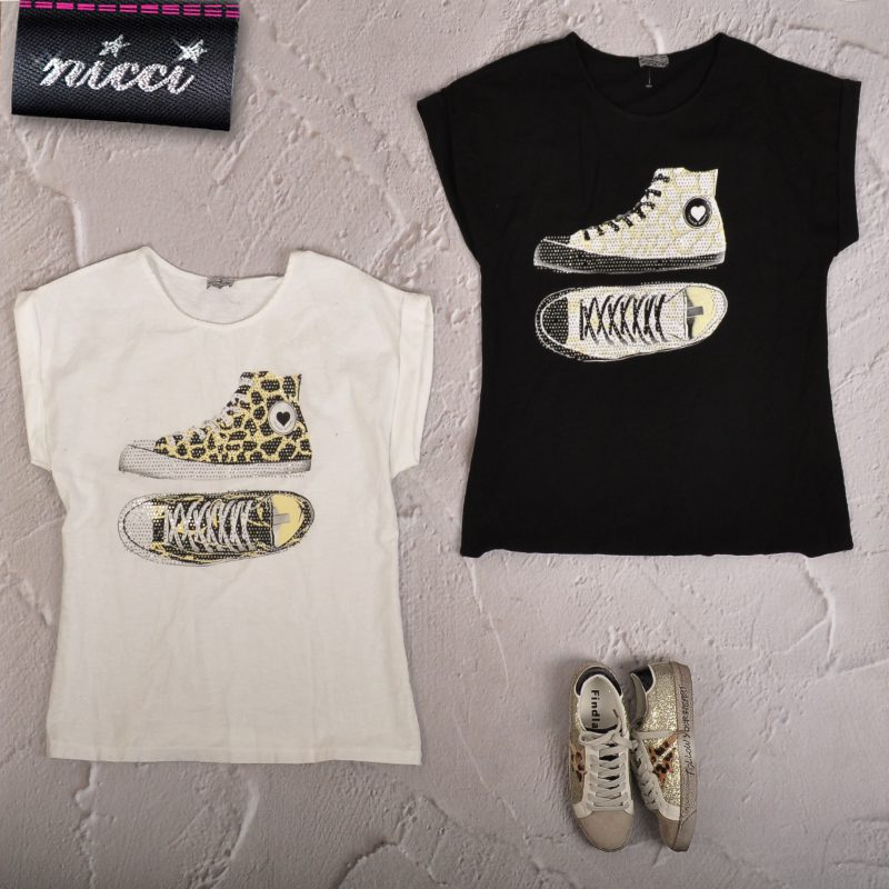 Studded sneaker top
