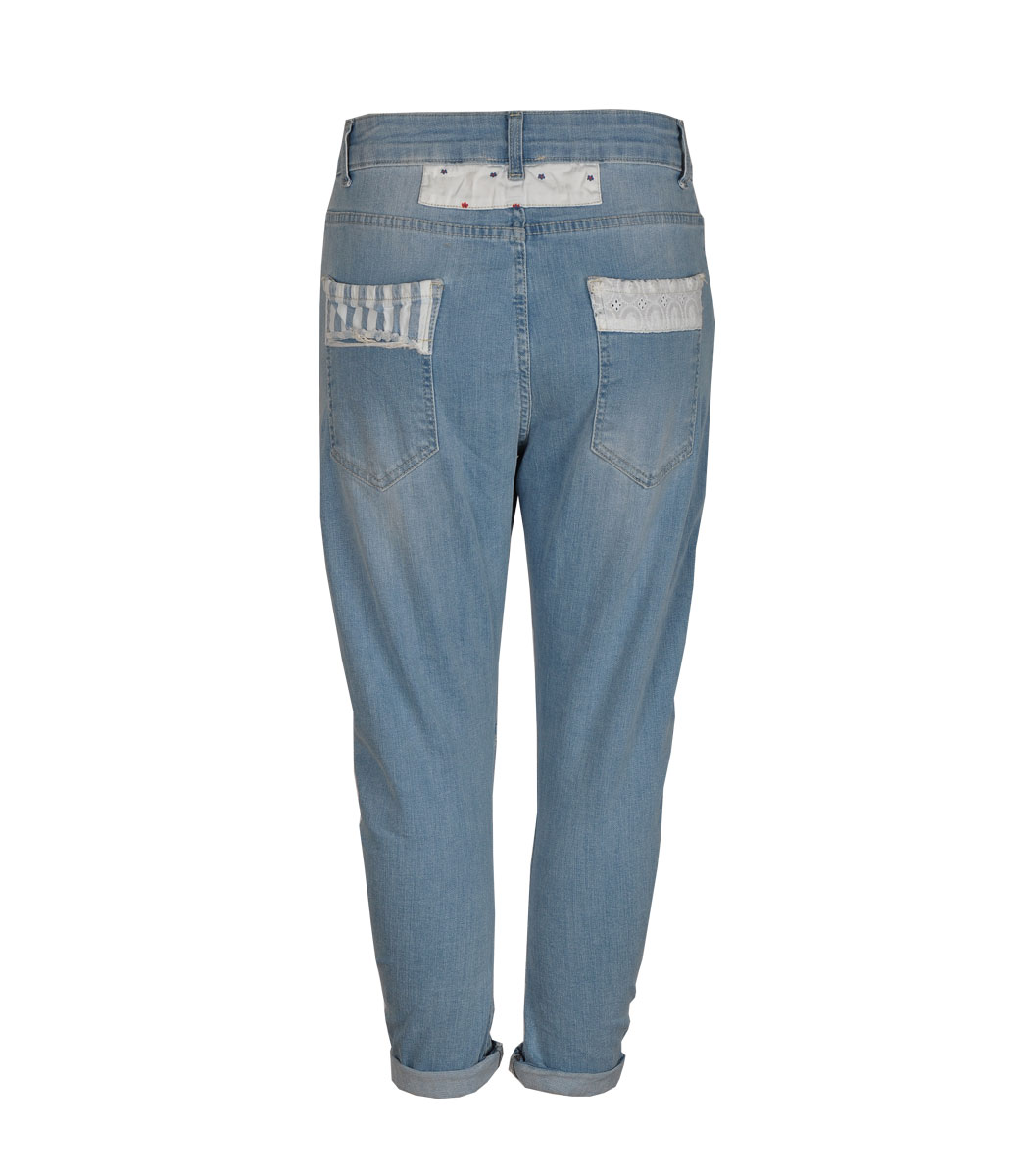 Checked jeans