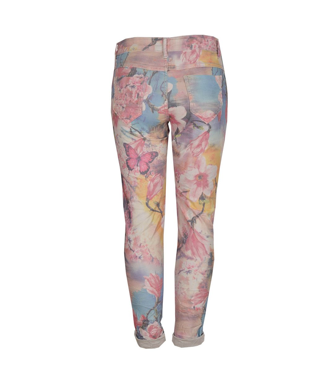 Butterfly giant floral reversible pants